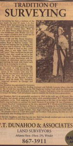1987 Article in the Winder News